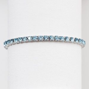 Aquamarine Swarovski Crystal Stretch Bracelet